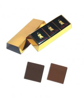 9-chocolate in gold or silver bar